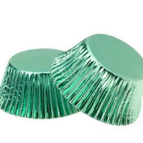 Foil Metallic Cupcake Cases 25pk - GREEN