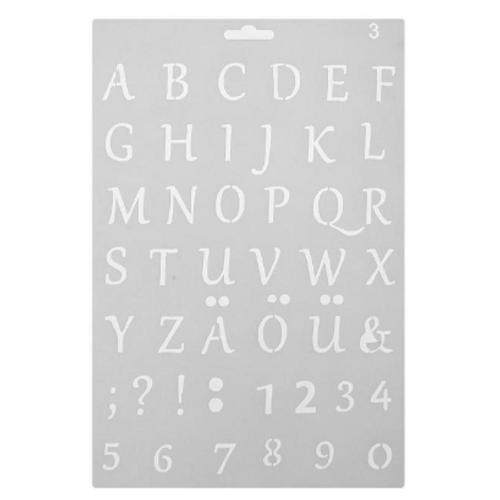Numeral/Alphabet Stencil - Basic Font