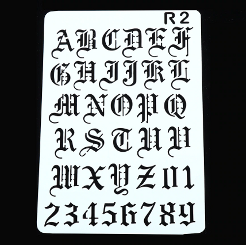 Numeral/Alphabet Stencil - Calligraphy