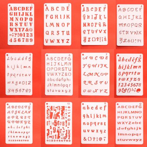 Numeral/Alphabet Stencil Set 12pc
