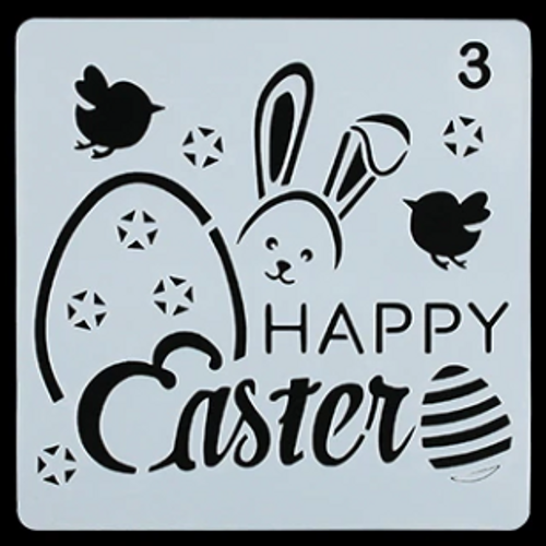 "Easter Stencil ""Happy Easter"" - Style 3"