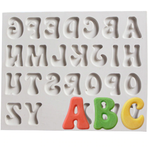 Funky Alphabet Uppercase Silicone Mould