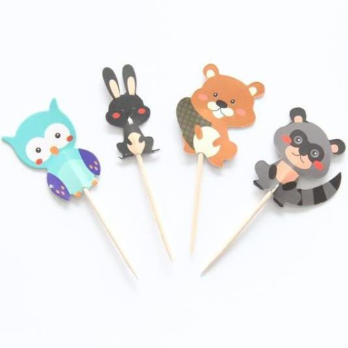 Forest Animals Toppers 24pc