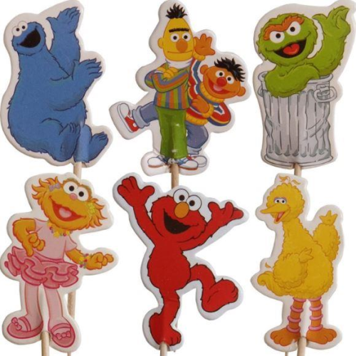 Cupcake Toppers 24pc - Sesame Street
