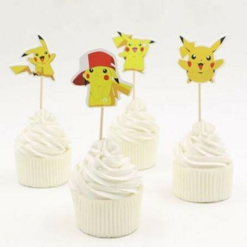 Cupcake Toppers 24pc - Pikachu