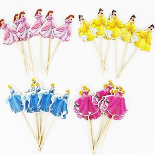 Cupcake Toppers 24pc - Disney Princess