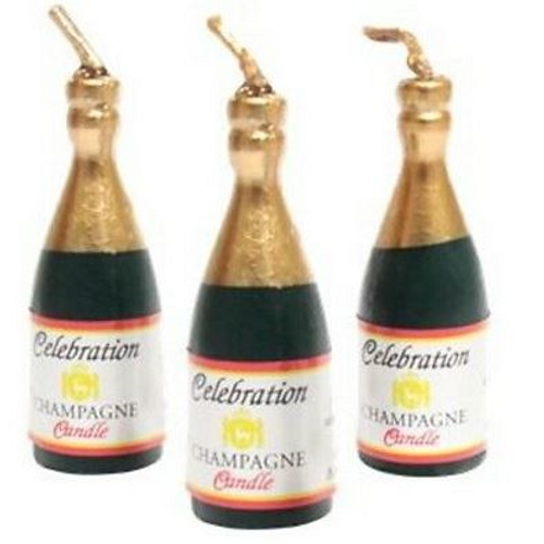 Novelty Candles 8pc - Champagne Bottles