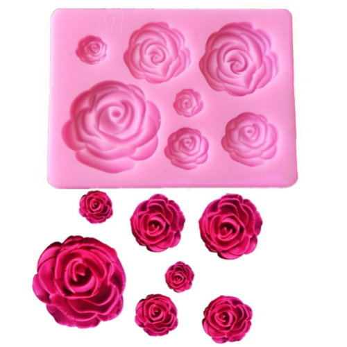Roses 7pc Silicone Mold