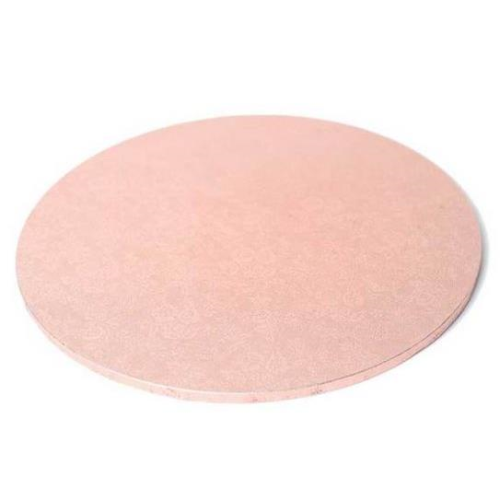 "Round Masonite Cake Board - ROSE GOLD 8"" / 20cm"