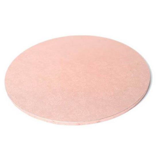"Round Masonite Cake Board - ROSE GOLD 9"" / 22.5cm"
