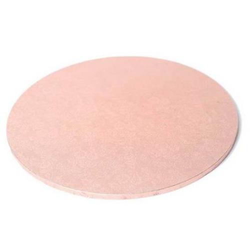 "Round Masonite Cake Board - ROSE GOLD 12"" / 30cm"