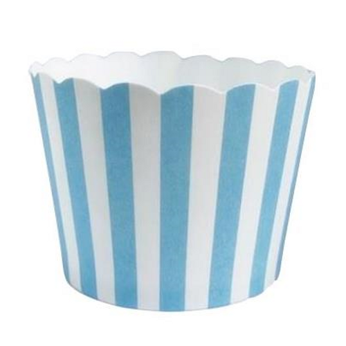 Shmick Baking Cups 25pk - BABY BLUE STRIPE