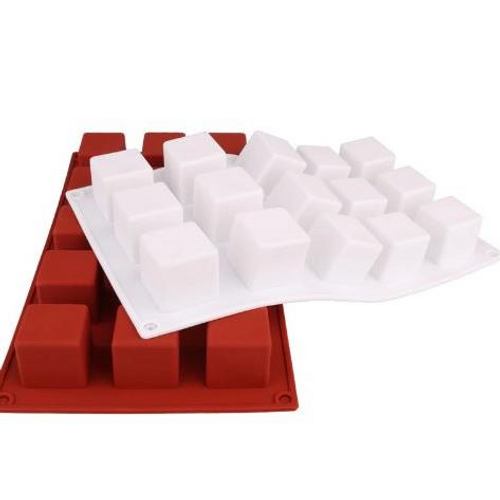 Silicone Chocolate & Dessert Mold 15 Cavity - SQUARE