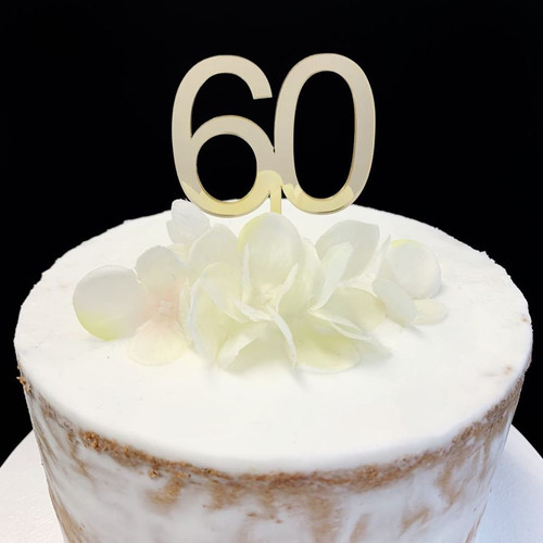 Cake Topper '60' 5cm - GOLD