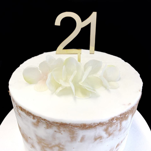 Cake Topper '21' 5cm - GOLD