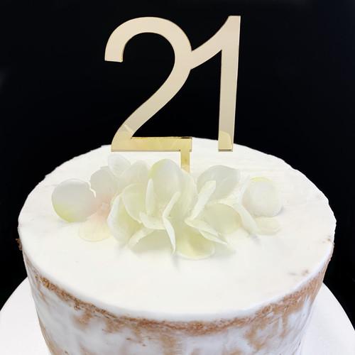 Cake Topper '21' 7cm - GOLD