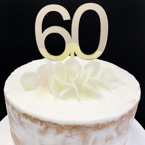 Cake Topper '60' 7cm - GOLD