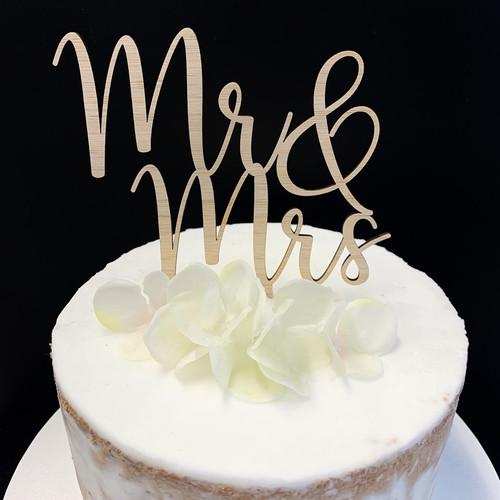 Cake Topper MR&MRS - BAMBOO