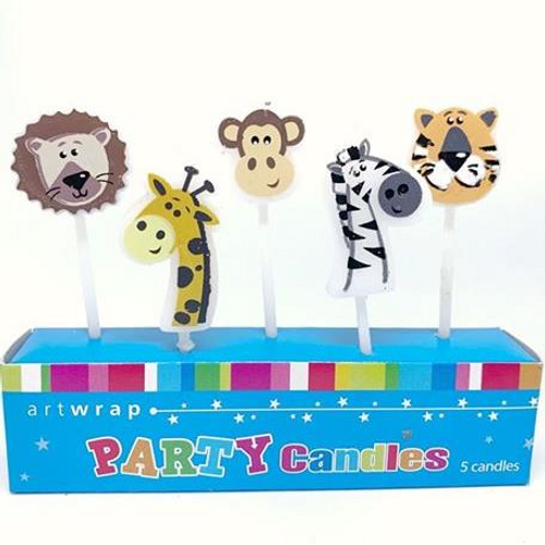 Jungle Animals Birthday Candles