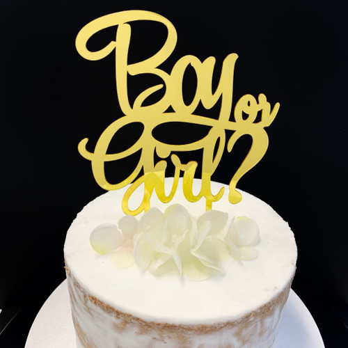 Acrylic Topper BOY OR GIRL - GOLD