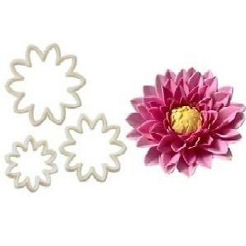 Chrysanthemum/ Dahlia Plastic Cutter 3pc