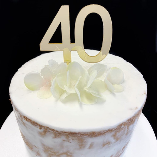 "Cake Topper ""40"" 7cm - GOLD"