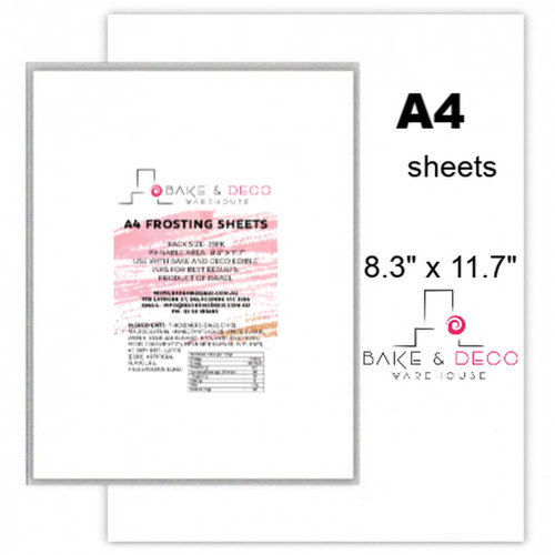 Icing Sheets A4 - Bake and Deco