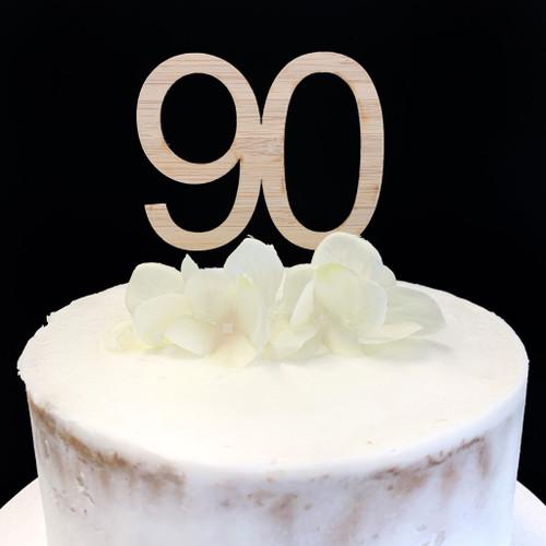 """Cake Topper """"90"""" 7cm - BAMBOO"""