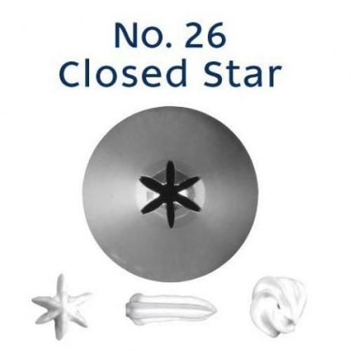 Piping Tip Closed Star (Drop Flower) - NO.26
