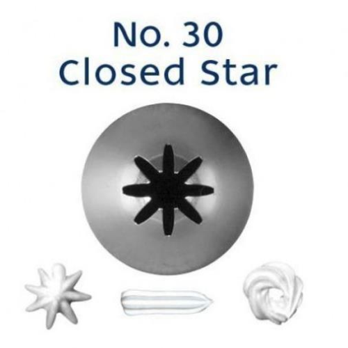 Piping Tip Closed Star (Drop Flower) - NO.30