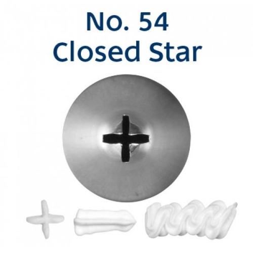 Piping Tip Closed Star (Drop Flower) - NO.54