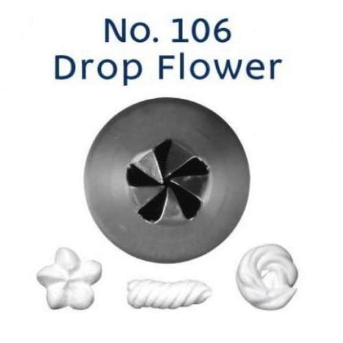 Piping Tip Closed Star (Drop Flower) - NO.106