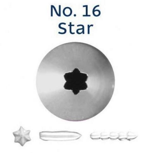 Piping Tip Open Star - No.16