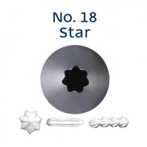 Piping Tip Open Star - No.18