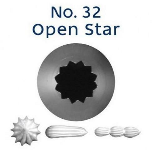 Piping Tip Open Star - No.32