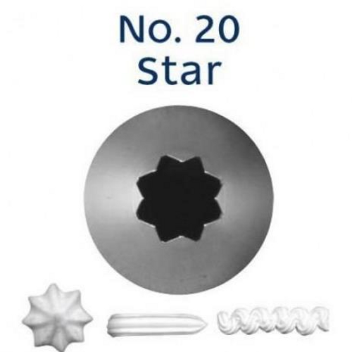 Piping Tip Open Star - No.20