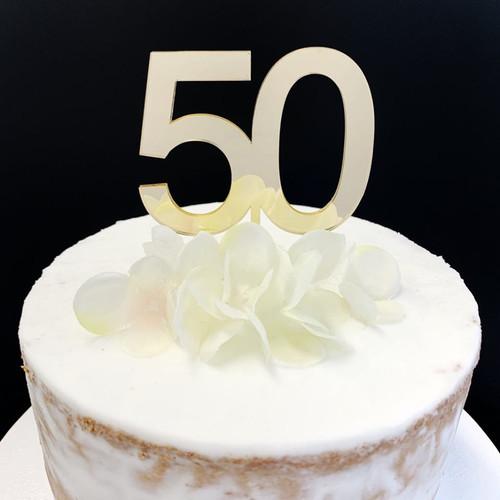 Cake Topper '50' 7cm - GOLD