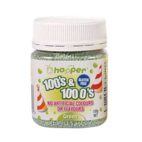 Natural 100's & 1000's Hopper 150g - GREEN