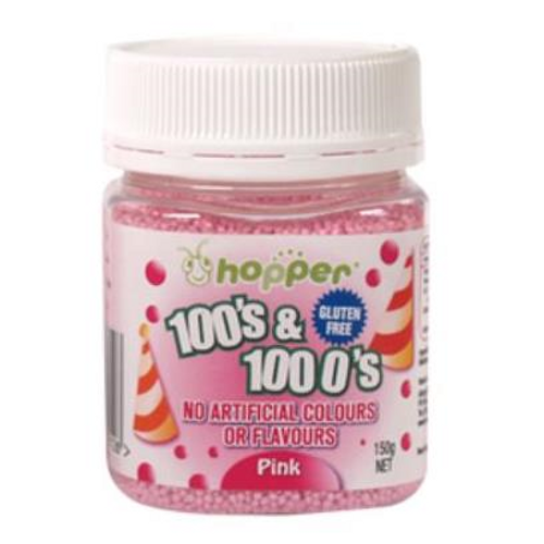 Natural 100's & 1000's Hopper 150g - PINK