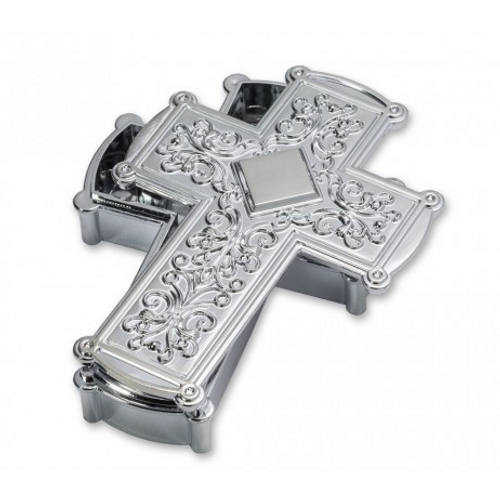 Cake Topper Plastic Cross - SILVER