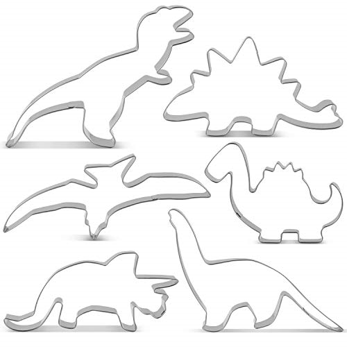 Stainless Steel Cutter Set 6pc - DINOSAURS