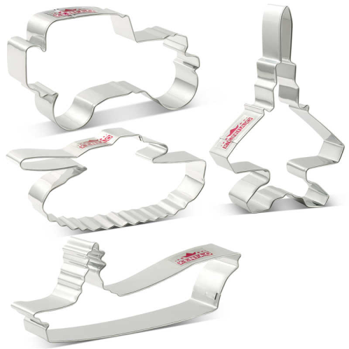 Stainless Steel Cutter Set 4pc - MILITARY