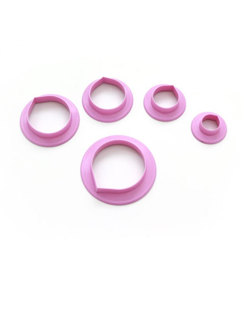 Plastic Cutter 5pc - ROSE PETALS