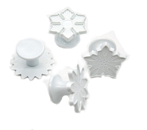 Plastic Cutter 4pc - STAR SNOWFLAKE