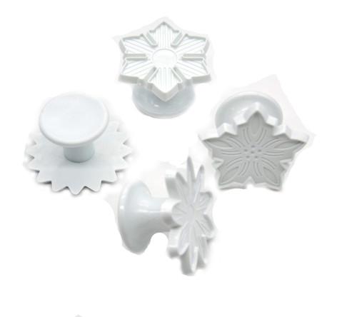 Plastic Cutter 4pc - STAR SNOWFLAKE