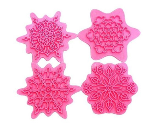 Impression Stamp Set 5pc - SNOWFLAKE