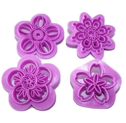 Impression Stamp Set 4pc - FLOWERS