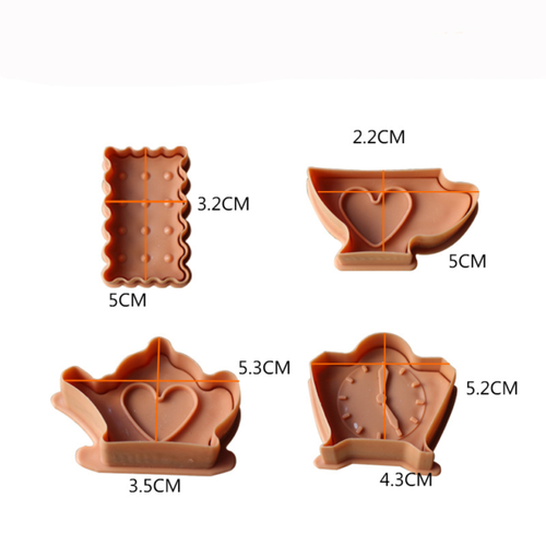 Plunger Cutter Set 4pc - TEA PARTY
