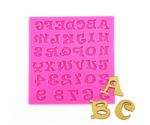 Silicone Mould - FUNKY MEDIUM ALPHABET