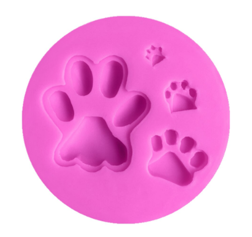 Silicone Mold - DOG PAW PRINT